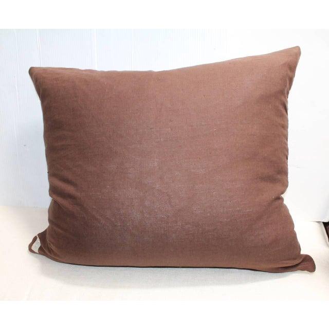 Monumental Navajo Indian Eye Dazzler Weaving Pillow - Image 3 of 3