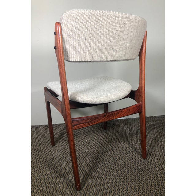 Mid-Century Modern Set of 6 Rosewood Mid Century Danish Dining Chairs by Erik Buch Buck For Sale - Image 3 of 13