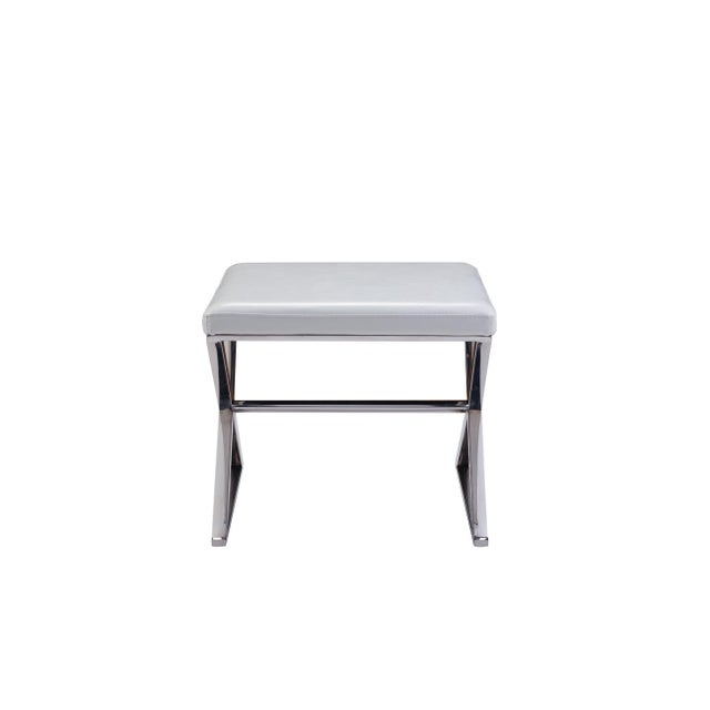 Pasargad Luxe Collection Faux Leather Bench - Image 4 of 6
