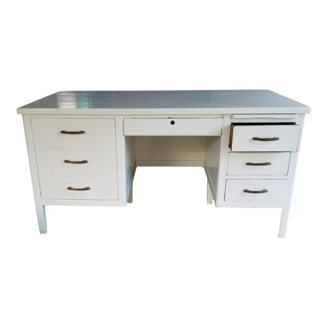 Mid Century Modern Style Executive Desk For Sale