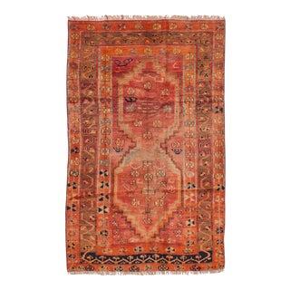 Autumn Semi Antique Geometric Persian Rug - 4′3″ × 7′1″
