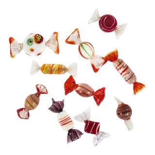 Murano Art Glass Candy Pieces - Lot of 10 For Sale