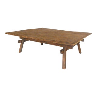Rustic Coffee Table With Straight Legs For Sale