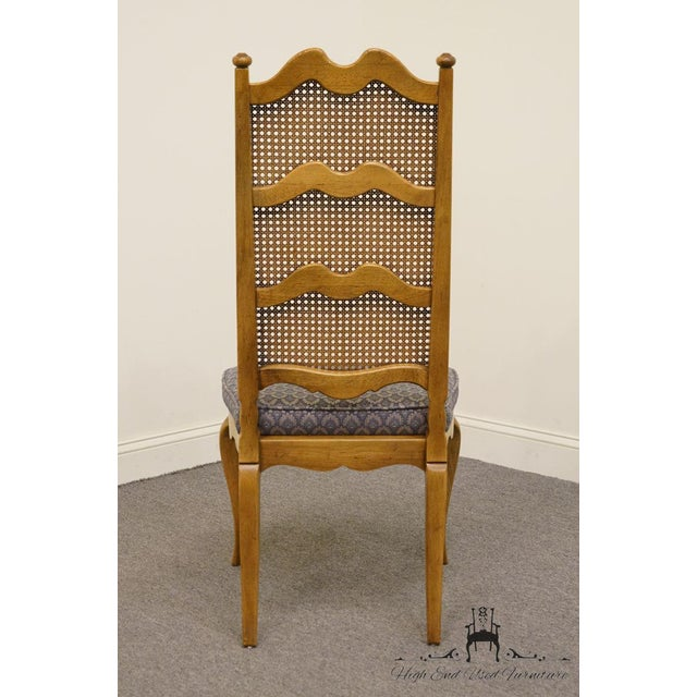 Thomasville Furniture Chateau Collection Cane Back Dining Side Chair For Sale In Kansas City - Image 6 of 10