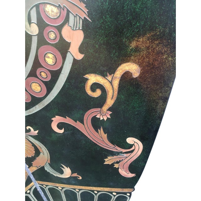 6 Foot Tall 1930s Hand Carved and Painted Art Deco Screen - Image 4 of 10