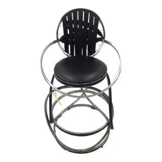 Any Gregg Handmade Chrome & Black Bike High Chair For Sale