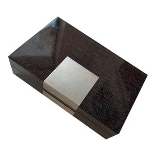 Fine Lacquered Box With a Dark Grey Stain For Sale