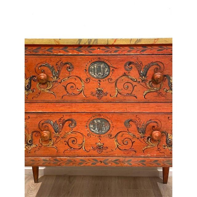19th Century 19th Century Painted Chest of Drawers, Italy For Sale - Image 5 of 8