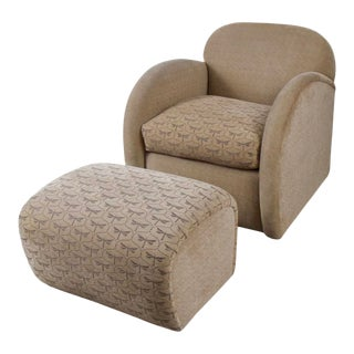 Lounge Chair and Ottoman by Sally Sirken Lewis for J. Robert Scott For Sale