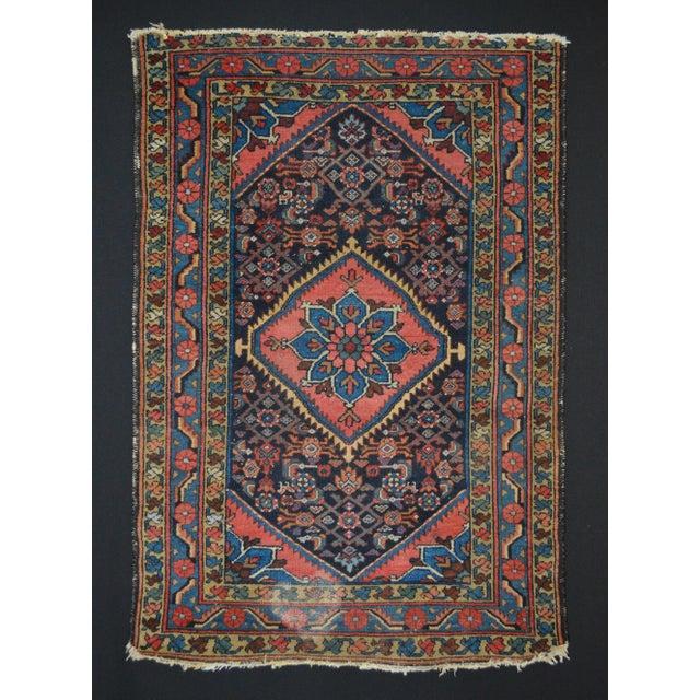 "Vintage Persian Hamadan Rug - 3'4"" x 4'10"" - Image 2 of 6"