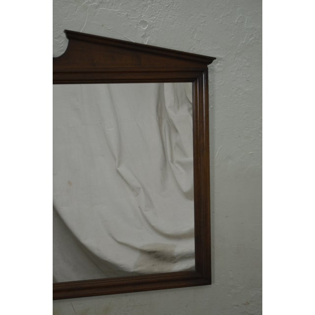 Brown Ethan Allen Vintage Maple Hanging Wall Mirror For Sale - Image 8 of 10
