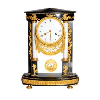 Early 19th Century French Neoclassic Clock For Sale