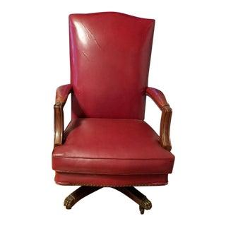 1930s Industrial b.l. Marble Rolling Swivel Lawyer Senator Judge Chair