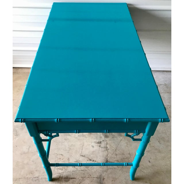 Thomasville Thomasville Lacquered Faux Bamboo Desk For Sale - Image 4 of 10