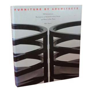 Furniture by Architects Hard-Cover Decorative Vintage Book For Sale