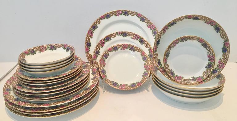 French Limoge Porcelain Art Deco Dinnerware - Image 2 of 9  sc 1 st  Chairish & French Limoge Porcelain Art Deco Dinnerware | Chairish