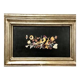 Italian Pietra Dura Bird Plaque #2 For Sale