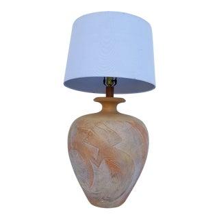 Large 1988 Casual Lamp of California Ceramic Table Lamp For Sale