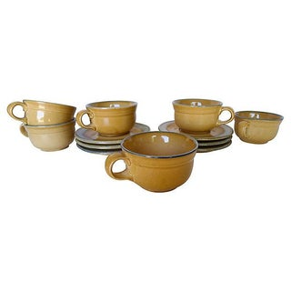 French Country Style Tea or Coffee Cups - S/6 For Sale