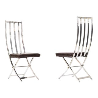 Pair of Maison Jansen Chairs For Sale