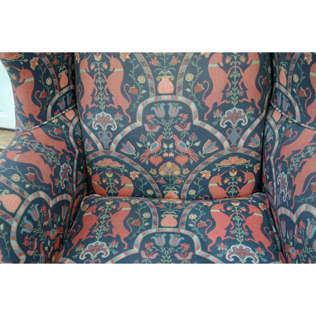 1970s Vintage Wingback Upholstered Chairs- A Pair For Sale In Wichita - Image 6 of 11