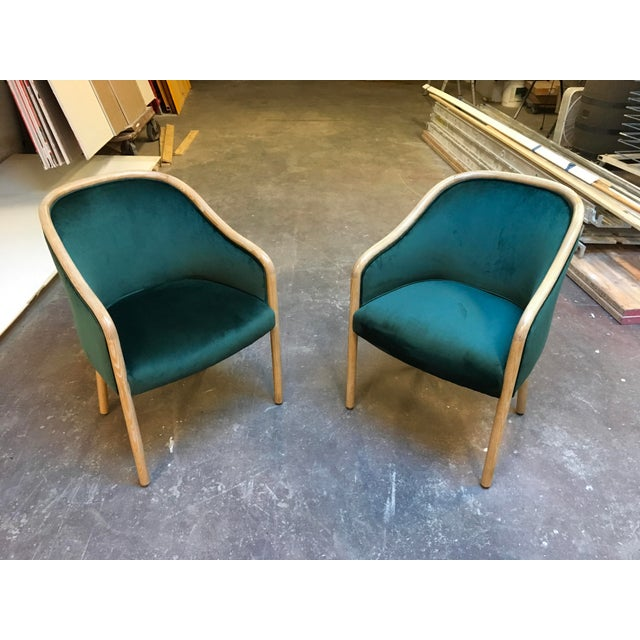 1980s Vintage Ward Bennet Cerused Oak Chairs- A Pair For Sale - Image 11 of 12