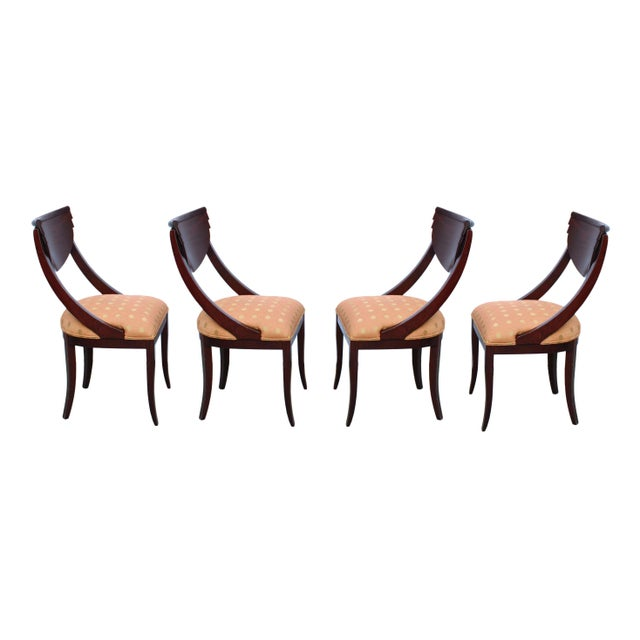 Usually seen in a black or white lacquer, these iconic Art Deco/Post Modern-style Pietro Costantini for Ello dining chairs...