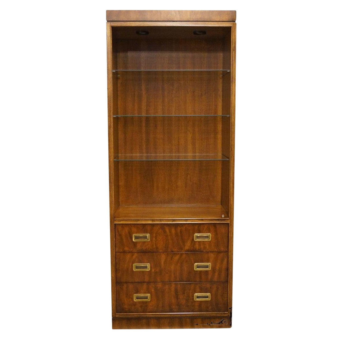 Drexel heritage dynasty collection campaign style 30 bookcase wall unit 017 716 chairish