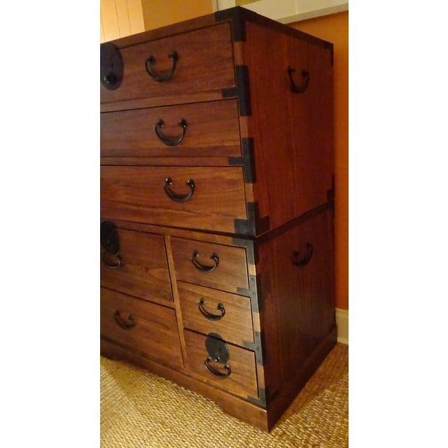 Japanese Style 3 Piece Stacking Tansu Clothing Chest - Image 7 of 11