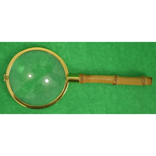 Vintage Bamboo Magnifying Glass For Sale - Image 4 of 4