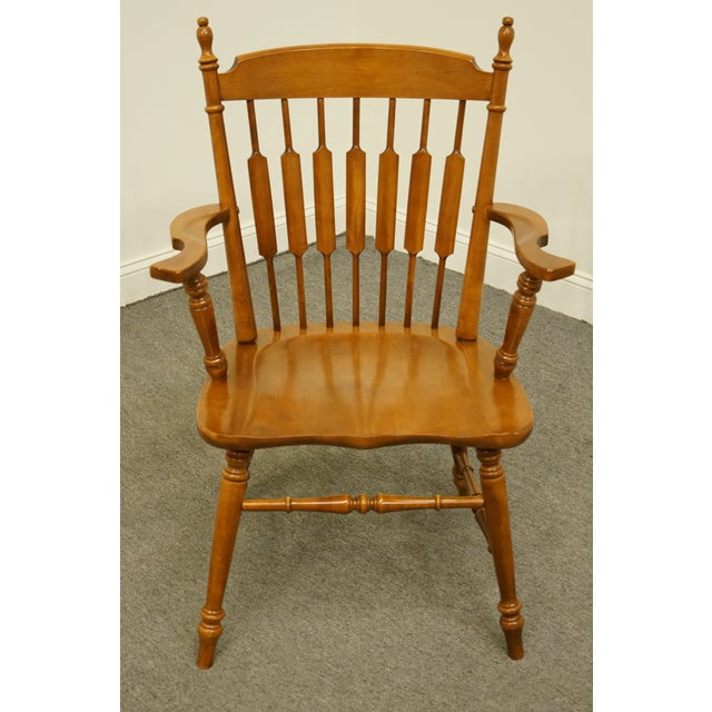 """TELL CITY Maple Colonial Cattail Back Dining Arm Chair 38.5"""" High 25.75"""" Wide 22"""" Deep Seat: 17"""" High Arms: 26.5"""" High We..."""