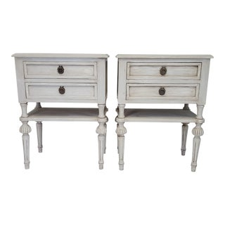 Antique Swedish Nightstands - A Pair