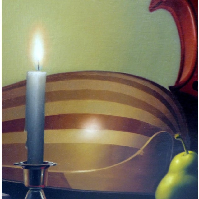 Candle-Lit Still Life Oil Painting by Nicolas Fasolino - Image 5 of 11