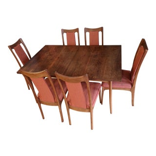 Mid-Century Modern Kroehler Dining Set - 7 Pieces For Sale