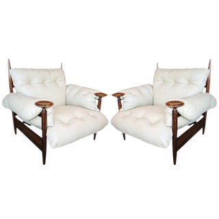 1960s Brazilian Cream Armchairs-A Pair For Sale