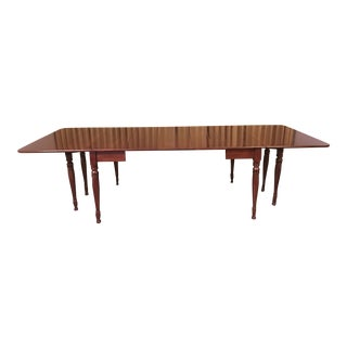 Custom Made Solid Cherry Dining Room Table For Sale