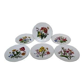 Bavarian Porcelain Salad Plates - Set of 6 For Sale