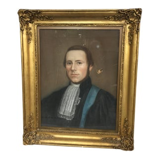 Pastel of Magistrate in Uniform For Sale