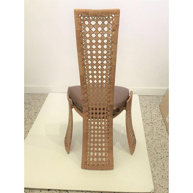 Mid 20th Century Mid-Century Modern Danny Ho Fong Dining Chairs Rattan Caning - Set of 6 For Sale - Image 5 of 13