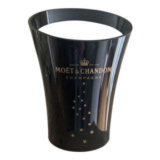 Moet & Chandon Champagne Black Acrylic Ice Bucket Cooler For Sale