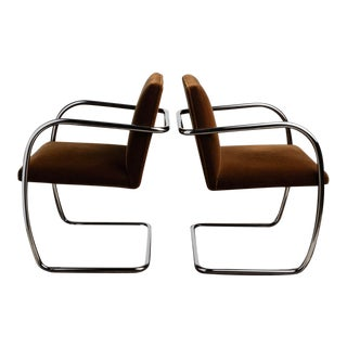Knoll Tubular Brno Chairs by Ludwig Mies Van Der Rohe - a Pair For Sale