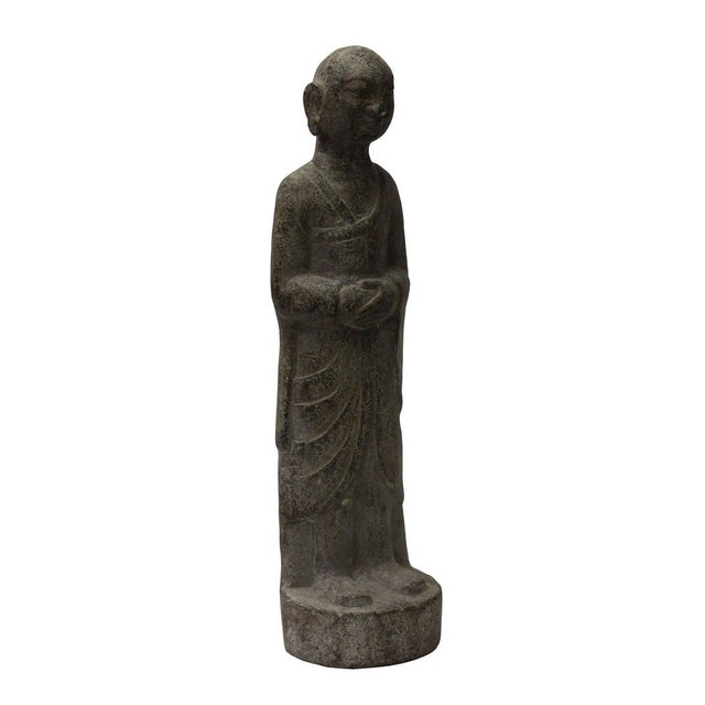 Asian Chinese Gray Stone Statue For Sale - Image 3 of 6