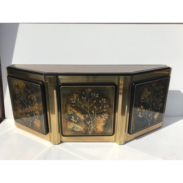 1970s Hollywood Regency Bernhard Rohne for Mastercraft Brass Credenza For Sale - Image 13 of 13