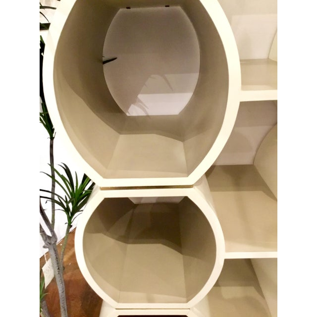 Contemporary Modern Geometric Cappuccino Finished Pamela Bookcase For Sale - Image 3 of 5