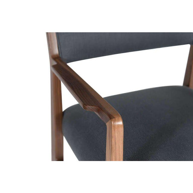 2010s Customizable Maze Walnut Arm Dining Chair For Sale - Image 5 of 5