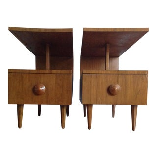 Gilbert Rhode for Herman Miller Side Tables - A Pair For Sale