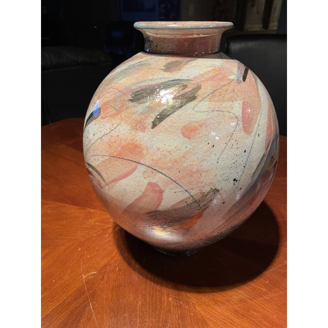 Mid-Century Modern 1980s Ceramic Malloy Vase by Gary McCloy For Sale - Image 3 of 5