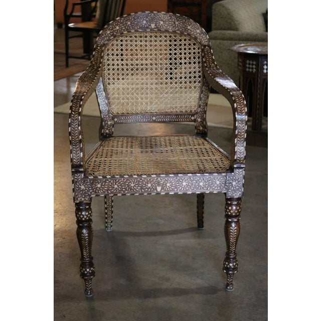 Wood Wood and Bone Inlay Armchair For Sale - Image 7 of 7