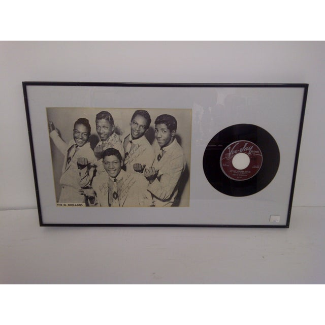 Vintage -- Autographed Picture (Signed By 5 Band Members) -- And The 45 RPM Record (VeeJay Records) Framed -- Matted --...