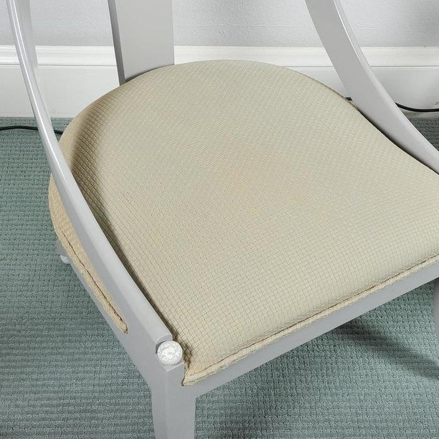 Custom Contemporary Grey Arched Chairs - Pair - Image 6 of 8